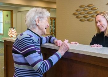 friendly staff members at the cridersville senior living community are always on hand to help residents